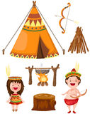 Native american set Royalty Free Stock Image