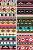 Native American set of six different vector seamless patterns. Six different vector seamless patterns royalty free illustration
