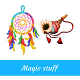 Native American and shamanic magical supplies Royalty Free Stock Images