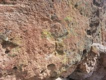 Native American spiral petroglyph Tsankawe New Mexico Royalty Free Stock Photos