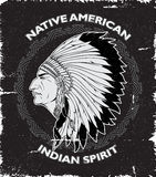 Native American Spirit Vintage Design Stock Photography