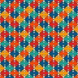 Native american style quilt blanket. Bright ethnic print with geometric forms. Abstract seamless surface pattern. Native american style quilt blanket. Bright stock illustration