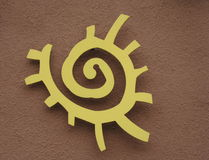Native American sun symbol Stock Photos