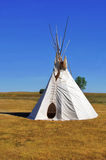 Native American Teepee. Native American Tepee on the plains of South Dakota stock images