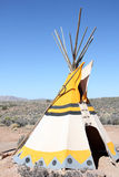 Teepee. Native American Teepee in the desert stock images