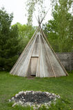 Native American Teepee Tent. Old Native American Teepee Tent stock photography