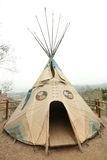 Native American Tepee. A Native American tepee, the traditional form of housing for nomadic tribes of the Great Plains Royalty Free Stock Images