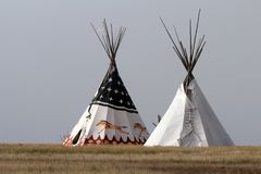 Free Native American Tipi Stock Photography - 112595712
