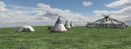 Native American Village Royalty Free Stock Images