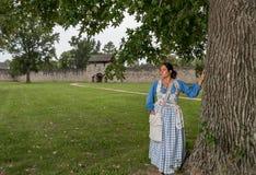 Native American-Vrouw van recente 1700s royalty-vrije stock foto's