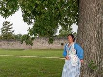 Native American-Vrouw van recente 1700s stock foto's