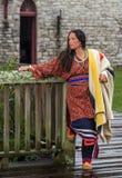 Native American-Vrouw van recente 1700s royalty-vrije stock fotografie