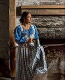 Native American-Vrouw van recente 1700s royalty-vrije stock afbeeldingen