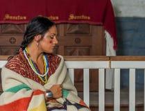 Native American-Vrouw van recente 1700s royalty-vrije stock foto