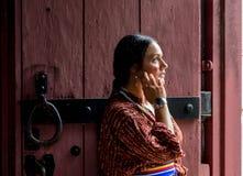 Native American-Vrouw van recente 1700s royalty-vrije stock afbeelding
