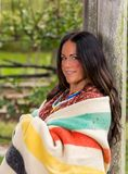 Native American-Vrouw van recente 1700s stock foto