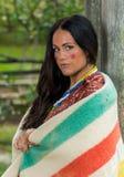 Native American-vrouw van 1700s stock afbeeldingen
