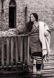 Native American-vrouw van 1700s royalty-vrije stock foto's