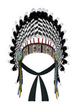 Native American War Bonnet Royalty Free Stock Images