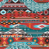 Native American waves patchwork. Native style vector seamless pattern wallpaper royalty free illustration