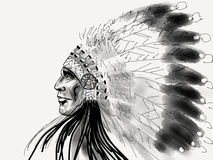 Native american white eagle Royalty Free Stock Photos