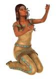Native American Woman royalty free illustration