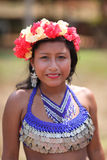 Native american woman. Native american (indian) woman, Embera tribe in Panama Stock Photos
