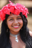 Native american woman. Native american (indian) woman, Embera tribe in Panama stock photo
