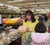 Native American woman shopping Stock Images