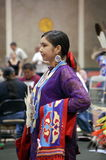 Native American Young Lady. In full regalia at the LSU NASA.  The Native American Student Association Pow wow, April 9, 2011, in Baton Rouge Louisisna Stock Photography