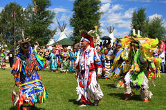 Native Americans during pow wow Royalty Free Stock Photo