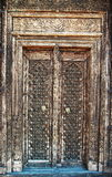 Native antique wood craft door Stock Photos
