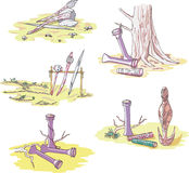Native Australian Sketches Royalty Free Stock Photos