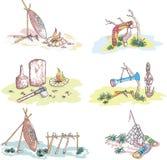 Native Australian Sketches Stock Image