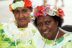 Native Australian women (Torres Strait Islands) Royalty Free Stock Photos