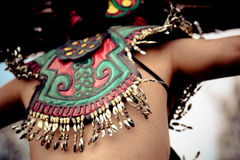 Native Aztec Dance Headwear Stock Photography