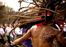 Native Aztec Dance Headwear Royalty Free Stock Image
