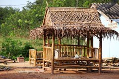 Native bamboo hut in Thai style Stock Photography