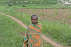Native Basotho boy from Butha-Buthe region of Lesotho Stock Photo