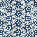Native batik seamless watercolor artistic boho style colorful square pattern. Royalty Free Stock Photography