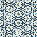Native batik seamless watercolor artistic boho style colorful square pattern. Royalty Free Stock Photo