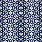 Native batik seamless watercolor artistic boho style colorful square pattern. Royalty Free Stock Image