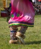 Native bead work on moccosins Stock Photo
