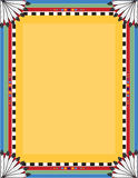 Native Border. A border or frame with a Native American motif royalty free illustration