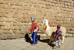 Native boys, Peru Stock Photo