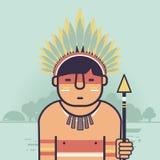 Native Brazilian. Indian icon. Amazon Royalty Free Stock Image