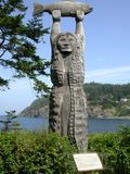 Native carving, deception pass Royalty Free Stock Photography