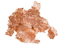 Native copper isolated on white background Royalty Free Stock Photography