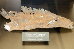 Native Copper. Metal on Display Royalty Free Stock Photo