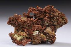 Native copper mineral stone rock stock image